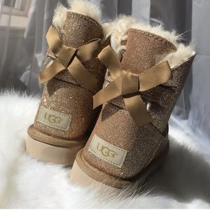 Uggs mini baily gold sparkle boots